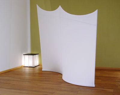 fiveeyes raumteiler aus stoff stellwand. Black Bedroom Furniture Sets. Home Design Ideas